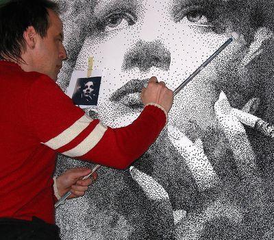 Porträterstellung in Punkttechnik